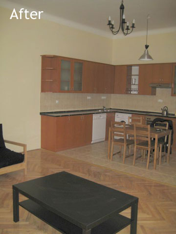 Kitchen after renovation and furnishing