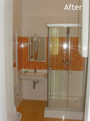 Bathroom after renovation and furnishing