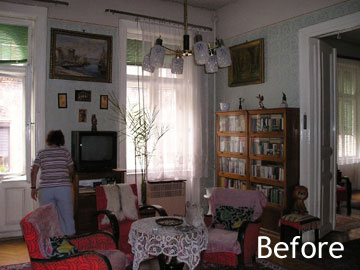 Living room before renovation and furnishing